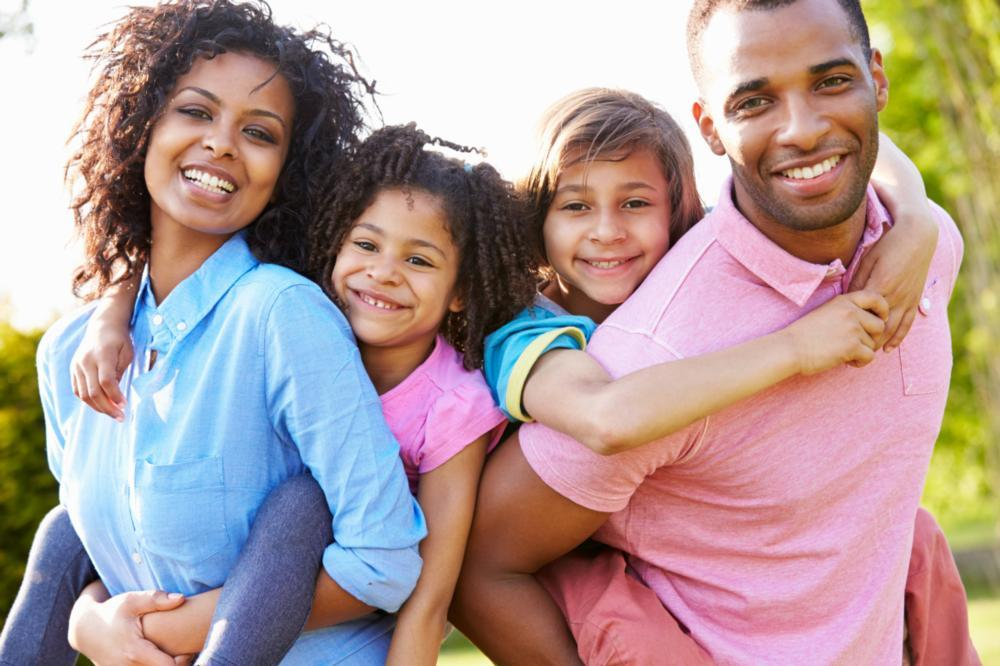 Mother, father, daughter, and son | Dentist Burnaby BC