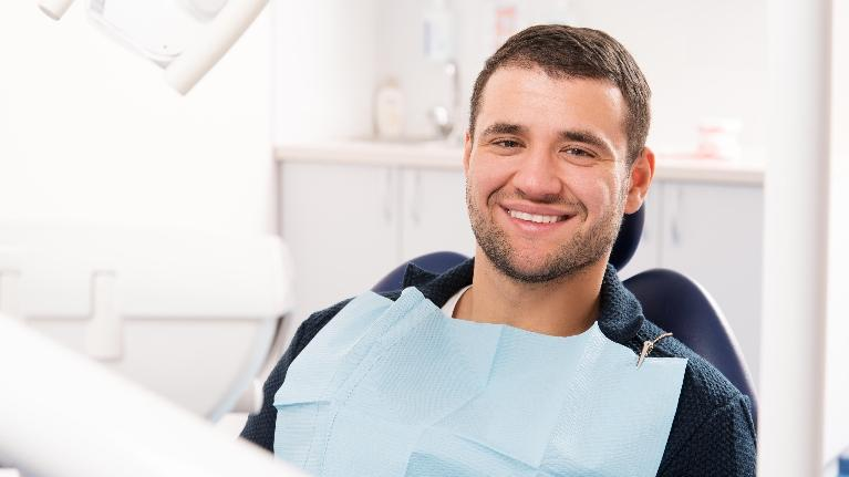 Man in dental chair | Dentist Burnaby BC